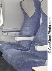 passageiro, dentro, avião, assentos