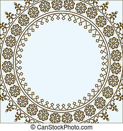 pastel, círculo, vetorial, quadro