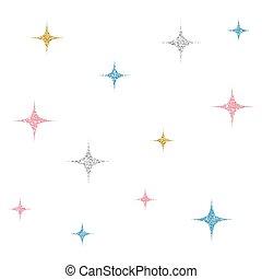 pastel, estrela, coloridos, padrão, seamless, fundo, brilhar