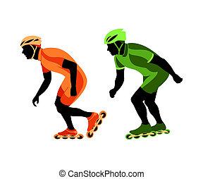 patinação, velocidade