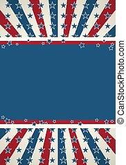 patriótico, fundo, bandeira, americano