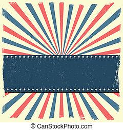patriótico, listrado, bandeira, fundo