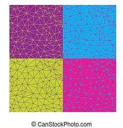 pattern., seamless, teia, backgro, abstratos, vetorial, coloridos, geomã©´ricas