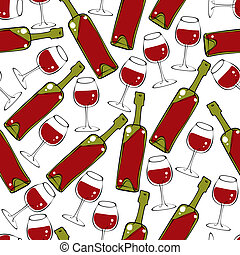 pattern., seamless, vinho