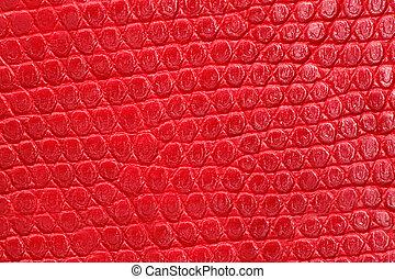 pattern., textura, vermelho, repetindo, leatherette, closeup.