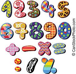 patterned, números