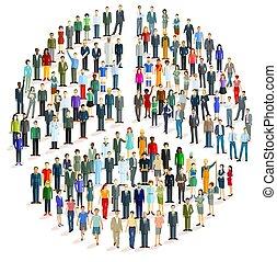 paz, grupo, forma, pessoas, grande, -, símbolo, vetorial, illustration.eps