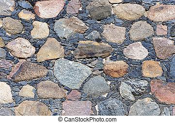 pedras, parede, áspero, fundo