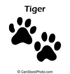 pegada, tiger