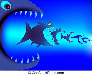 peixe, predadores