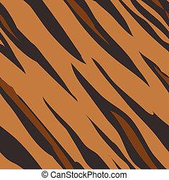 pele, padrão, impressão, seamless, tiger, telha, animal