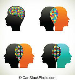 pensar, pessoas, comunicar, conversa