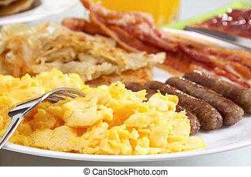 pequeno almoço, hearty