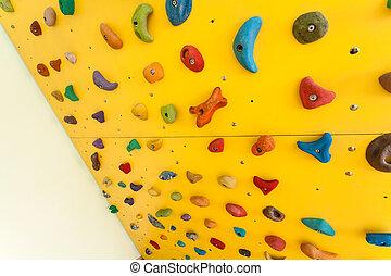 pequeno, escalando, crianças, parede