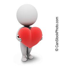 pequeno, people-heart, 3d