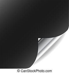 perfeitos, somando, ondulado, gallery., texto, página, vetorial, canto, design., meu, shadow., mais