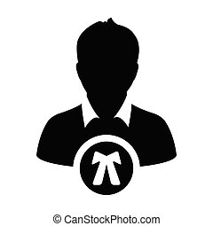 perfil, justiça, ilustração, usuário, vetorial, pictograma, avatar, glyph, ícone, símbolo, lei, apartamento, cor, macho, pessoa