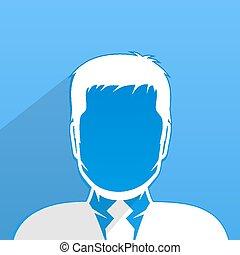 perfil, macho, avatar