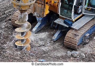 perfurar, construção