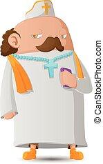 personagem, pastor, vetorial, desenho, caricatura, homem
