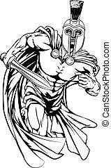 personagem, trojan, mascote