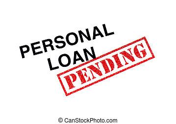 pessoal, empréstimo, pendente