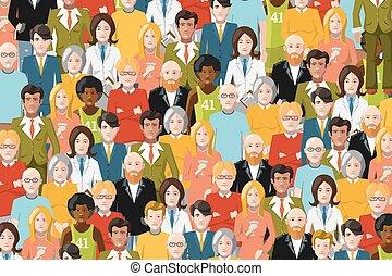 pessoas, apartamento, ilustração, torcida, internacional