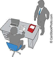 pessoas escritório, avaliação, recursos, human, negócio