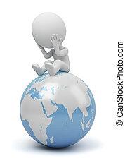 pessoas, -, global, pergunta, pequeno, 3d