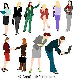 pessoas, -, no.1., mulheres negócio