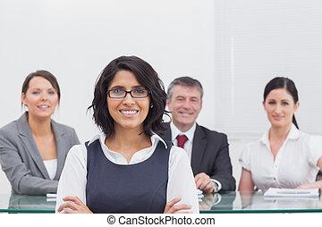 pessoas, quatro, negócio