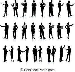 pessoas, silueta, super, jogo, negócio