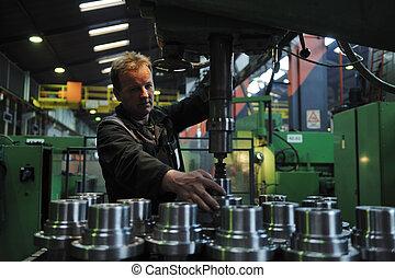 pessoas, trabalhadores, fábrica, indústria
