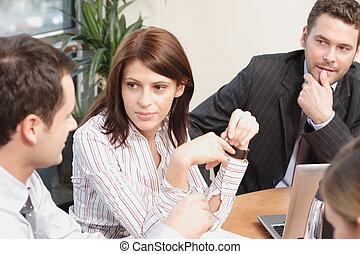 pessoas, trabalhando, projeto, grupo, negócio