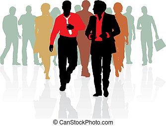 pessoas vendas, jovem, equipe