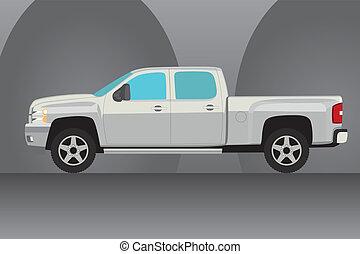 pick-up, vetorial, caminhão, ilustração
