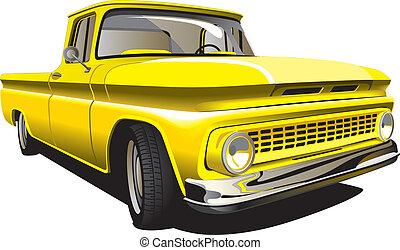 pickup, amarela