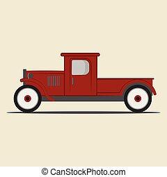 pickup, truck., retro