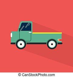 pico, apartamento, uso, jogo, sombra, ícones, transporte, grande, trânsito, |, longo, cima, muito, veículo, more., estilo, público, ícone