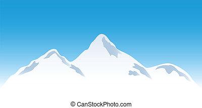 picos montanha, nevado