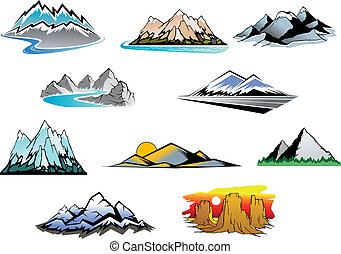 picos montanha