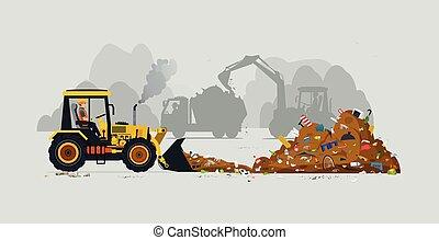 pilha, lixo