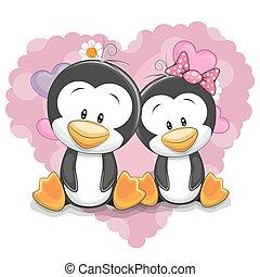 pingüins, dois, cute