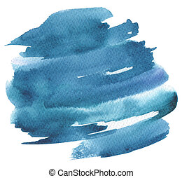 pintado, abstratos, aquarela, experiência., papel, texture.