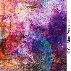 pintado, abstratos, fundo