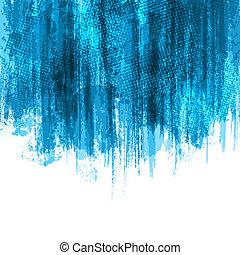 pintura azul, esguichos, fundo