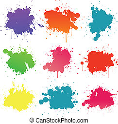 pintura, splat, cobrança