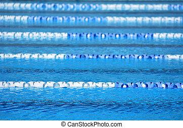 piscina exterior, natação