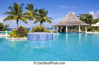 piscina, natação, hotel's, tobago