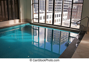 piscina, natação, indoor